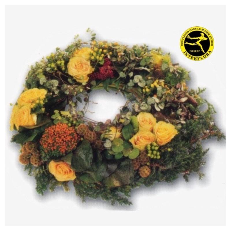 Couronne de fleurs deuil liban for Envoi fleurs deuil