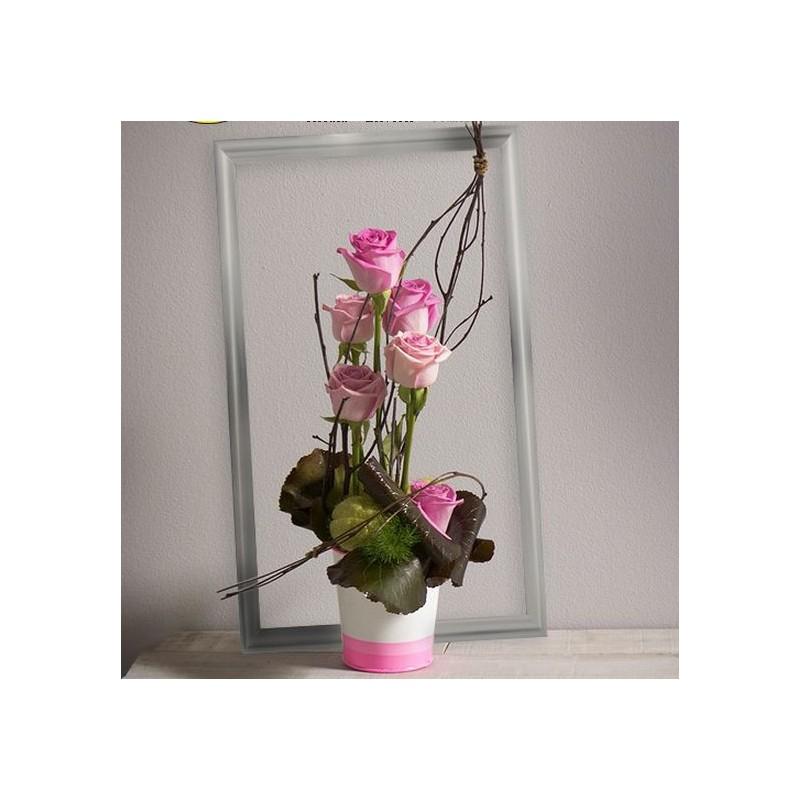 Composition de fleurs malice les in dits interflora for Composition de fleurs