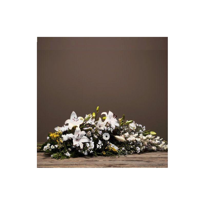 Gerbe main de fleurs deuil symphonie interflora for Envoi fleurs deuil