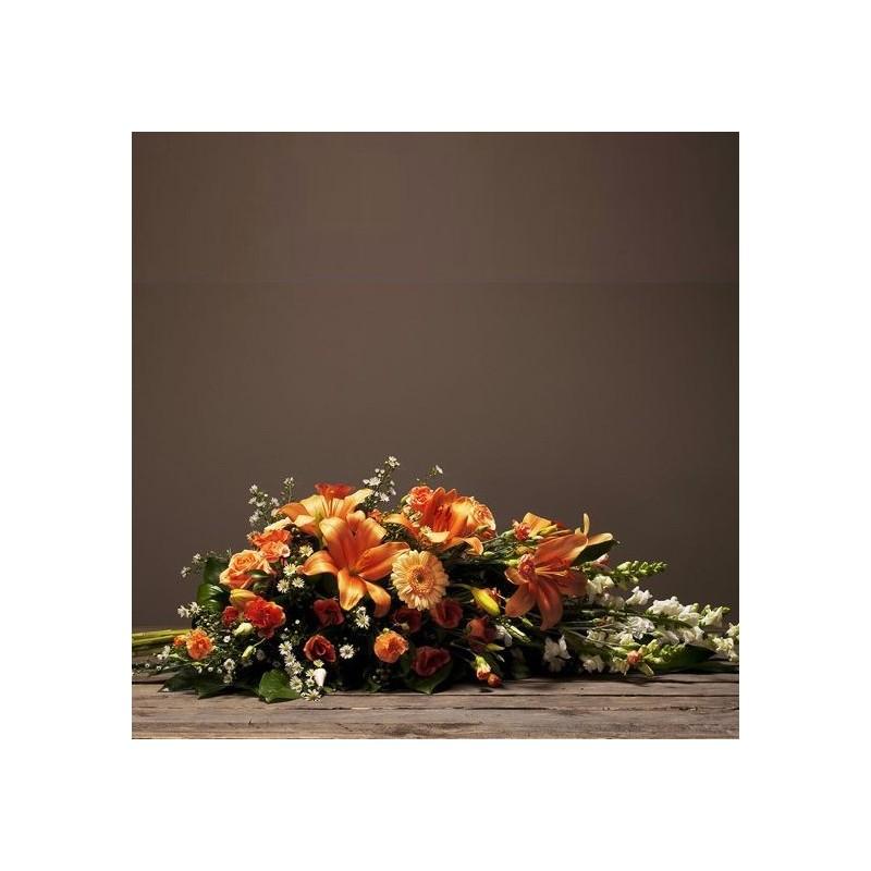 Gerbe piqu e deuil hommage interflora for Envoi fleurs deuil