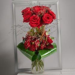 Coeur de fleurs st valentin cupidon interflora for Bouquet saint valentin