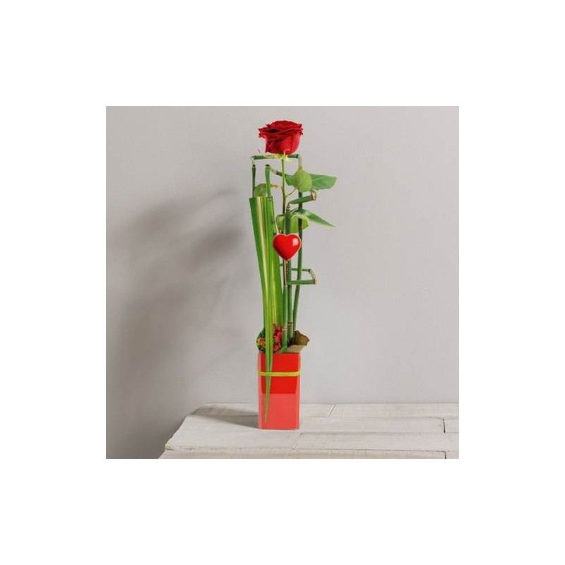 Bouquet st valentin only you corse for Comcomposition florale saint valentin