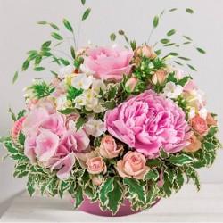 tendre bisou bouquet de fleurs f te des m res. Black Bedroom Furniture Sets. Home Design Ideas