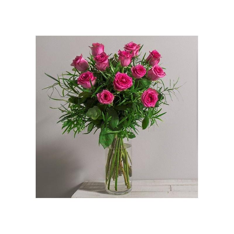 Bouquet de roses glossy interflora for Envoi bouquet