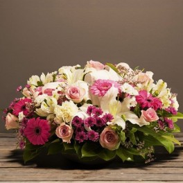 COUPE ROSE ET BLANCHE DEUIL