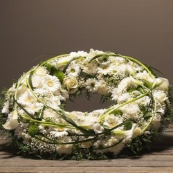 COURONNE DEUIL BLANCHE CORSE