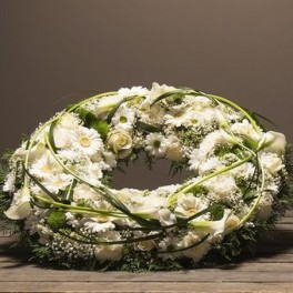 COURONNE DEUIL BLANCHE DOM-EXO