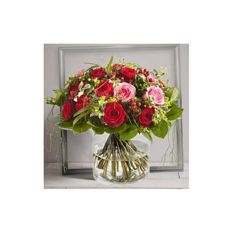 St valentin roses elixir for Envoi bouquet