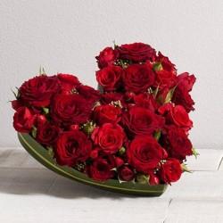 Fleurs st valentin corse wikifleurs - Bouquet de fleur en coeur ...