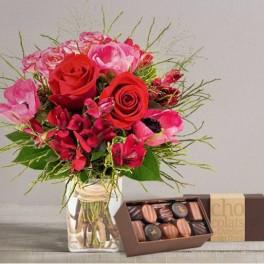 BOUQUET ST VALENTIN KISS avec chocolats
