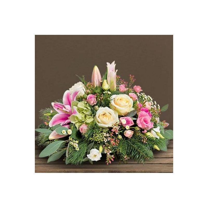 Coussin fleurs deuil aria for Envoi fleurs deuil