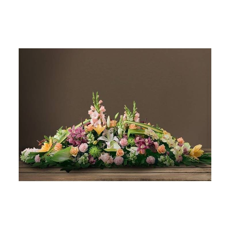Dessus de cercueil interflora dom com for Catalogue de fleurs