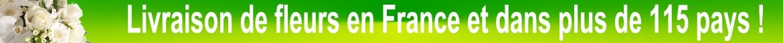 Livraison de fleurs en France et à l'étranger dans plus de 115 Pays.