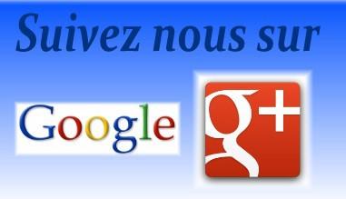Suivez nous sur Google +